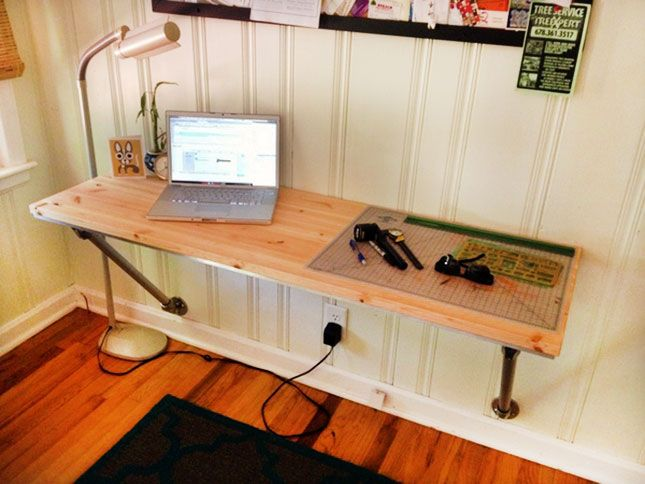 wall mounted desk on pinterest pipe desk  fold up desk  homeschool room desks