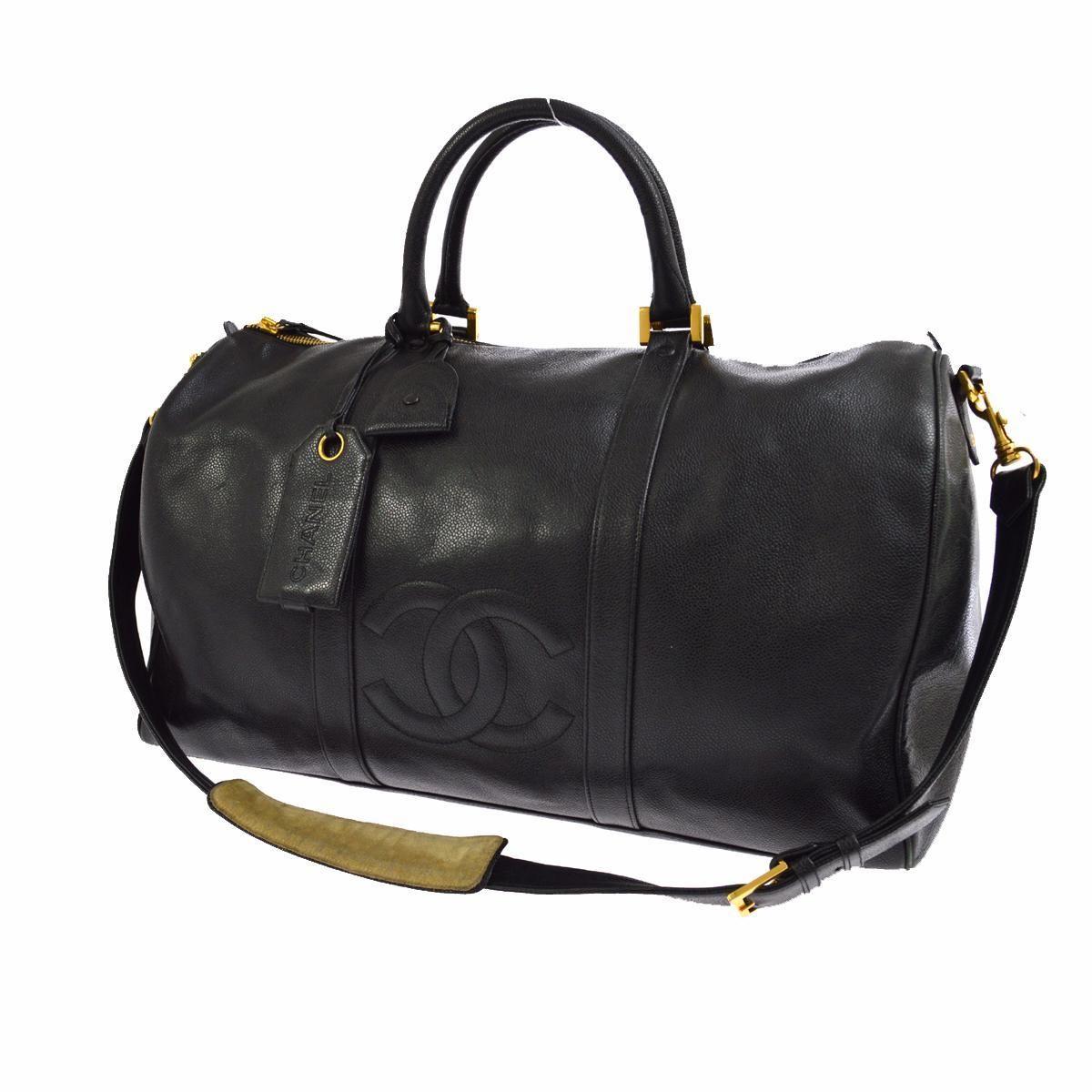 7adc0da2cedb Chanel Cc Jumbo Boston Black Travel Bag. Save 50% on the Chanel Cc Jumbo  Boston Black Travel Bag! This travel bag is a top 10 member favorite on  Tradesy.