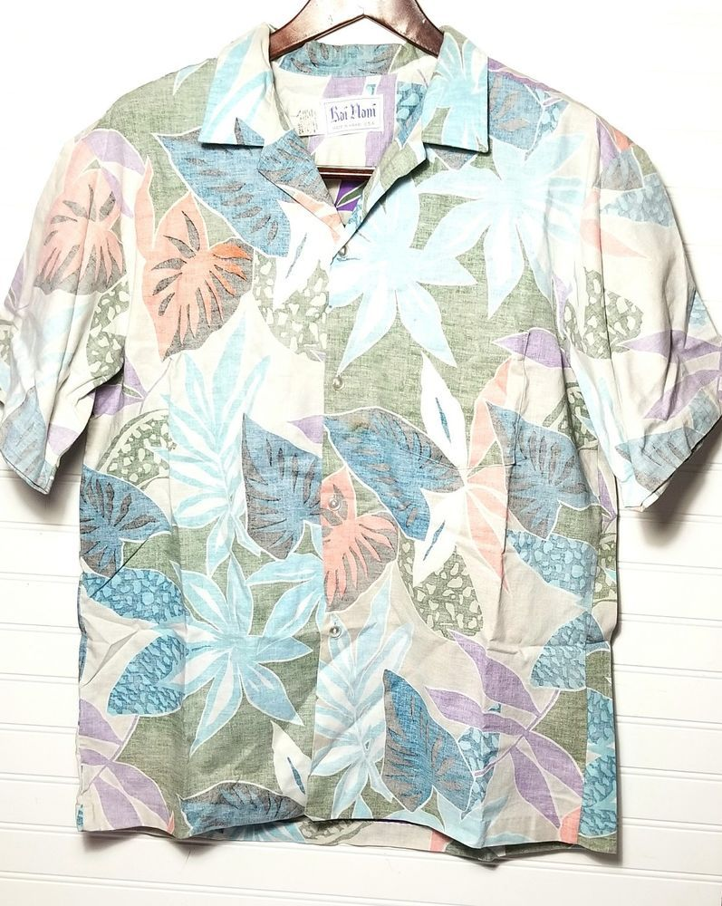 37279a3aa VINTAGE Rai Nani Reverse Print Hawaiian Shirt 2XL Tropical Leaf Frond  Cotton #RaiNani #Hawaiian