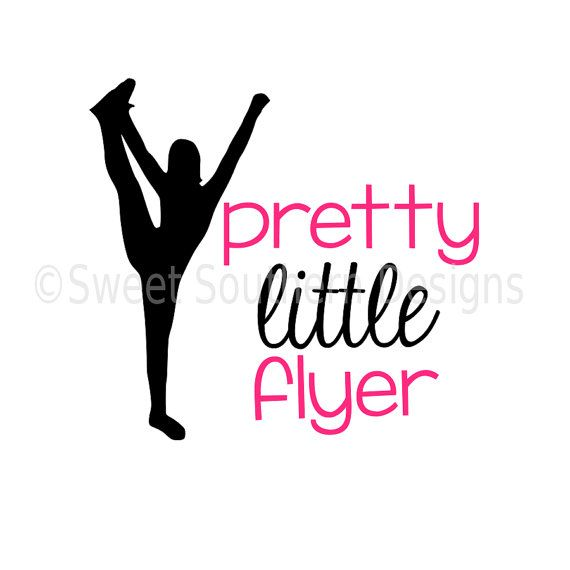Pretty little flyer cheerleading cheer SVG by