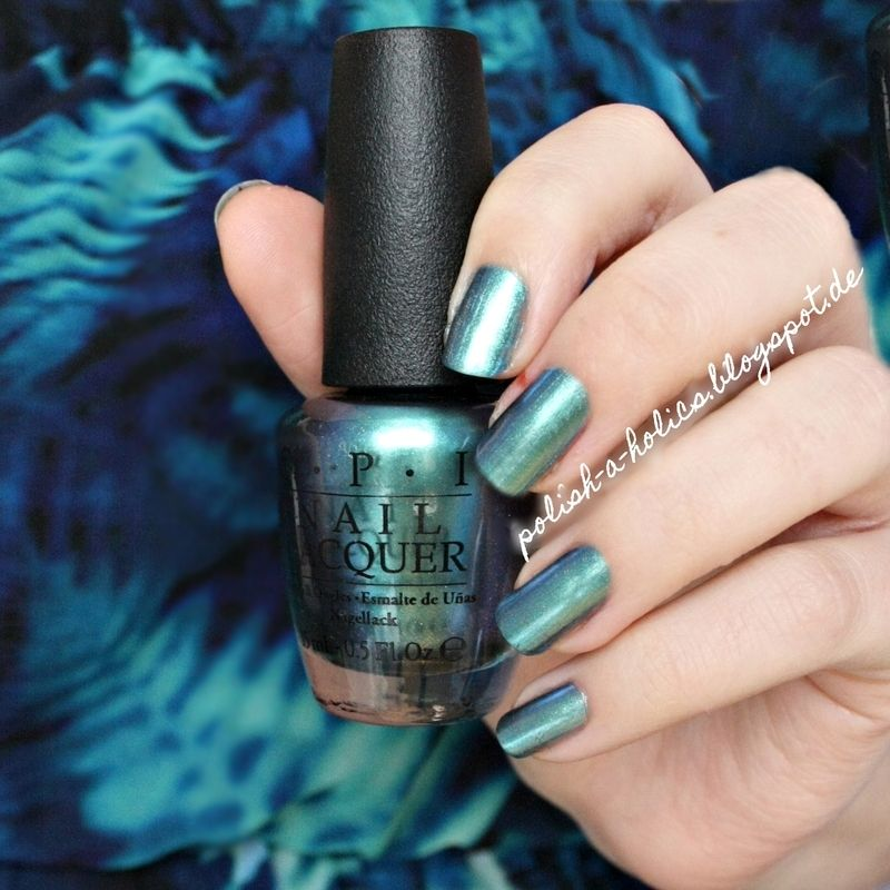 Nailpolis Museum of Nail Art | OPI This Color\'s Making Waves Swatch ...