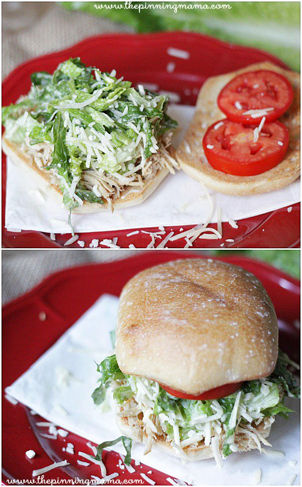 Crock Pot Chicken Caesar Sandwiches This Is Perfect Food For A Baby Shower Recipe
