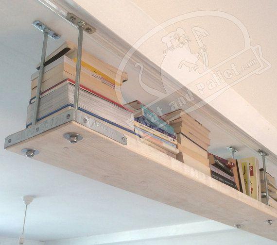 Suspended Scaffold Shelves Made To Measure Ceiling Mounted Shelving Idea For Bedroom Or Bathroom Floating Shelf Kit Syste Shelves Loft Style Floating Shelves