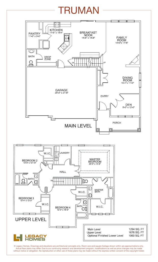 Truman Custom Floor Plan Legacy Homes Custom Floor Plans Floor Plans House Floor Plans