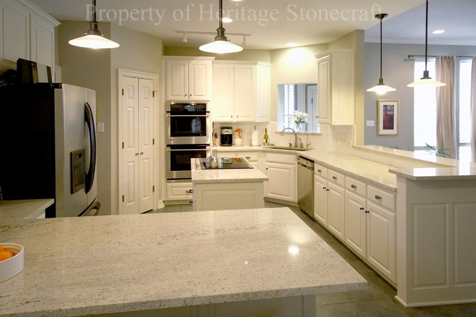 Kashmir White Granite With White Cabinets | White granite ...