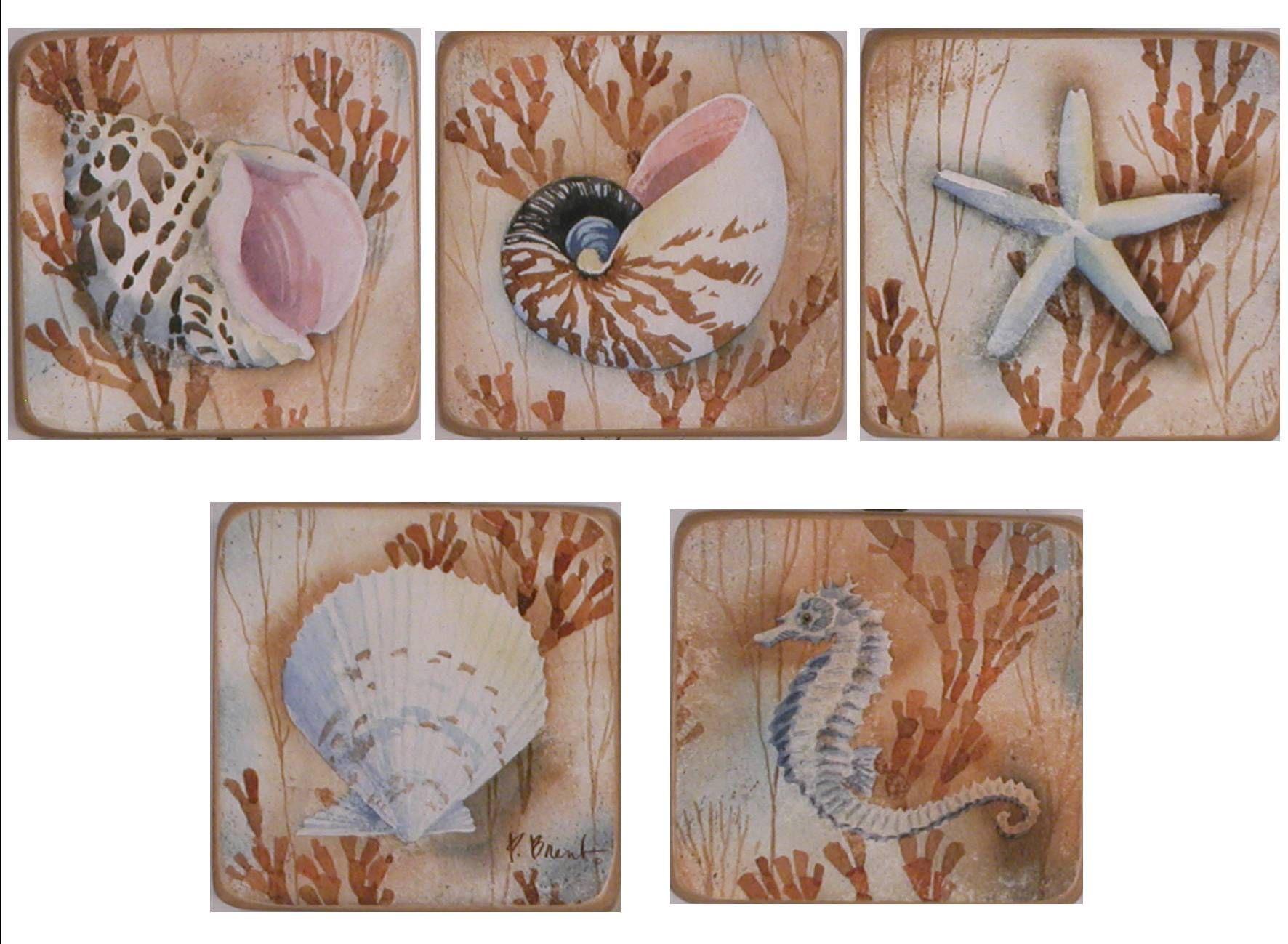 I quadri in legno raffiguranti diversi animali marini si adattano