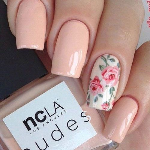 24 Natural Spring Nail Color Ideas Nail Designs Spring Flower