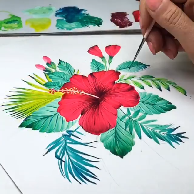 Photo of DIY FLOWER PAINTING🌺