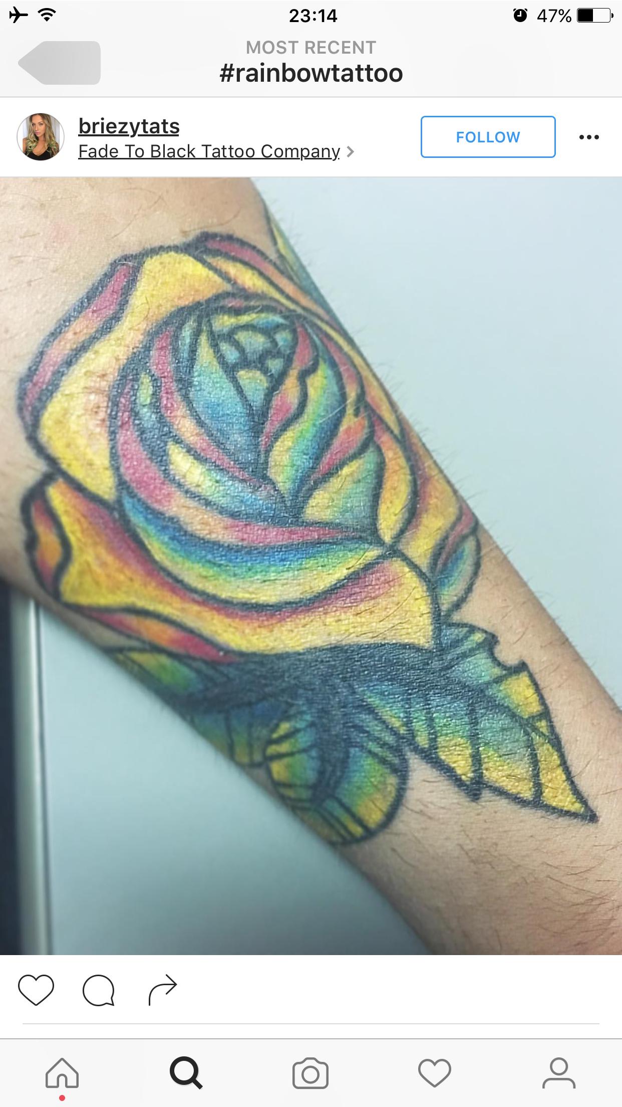 Idea by Trish on sketches/tattys Rainbow tattoos, Black