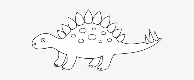 Cute Dinosaur Clipart Black And White Stegosaurus Clip Art Black Cute Dinosaur Clipart Black And White Art