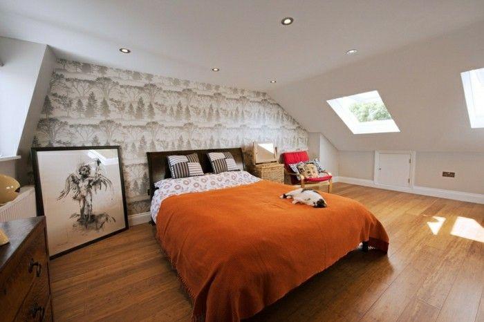 schlafzimmer dachschräge gemütlicher schlafbereich Schlafzimmer - ideen schlafzimmer mit dachschrage