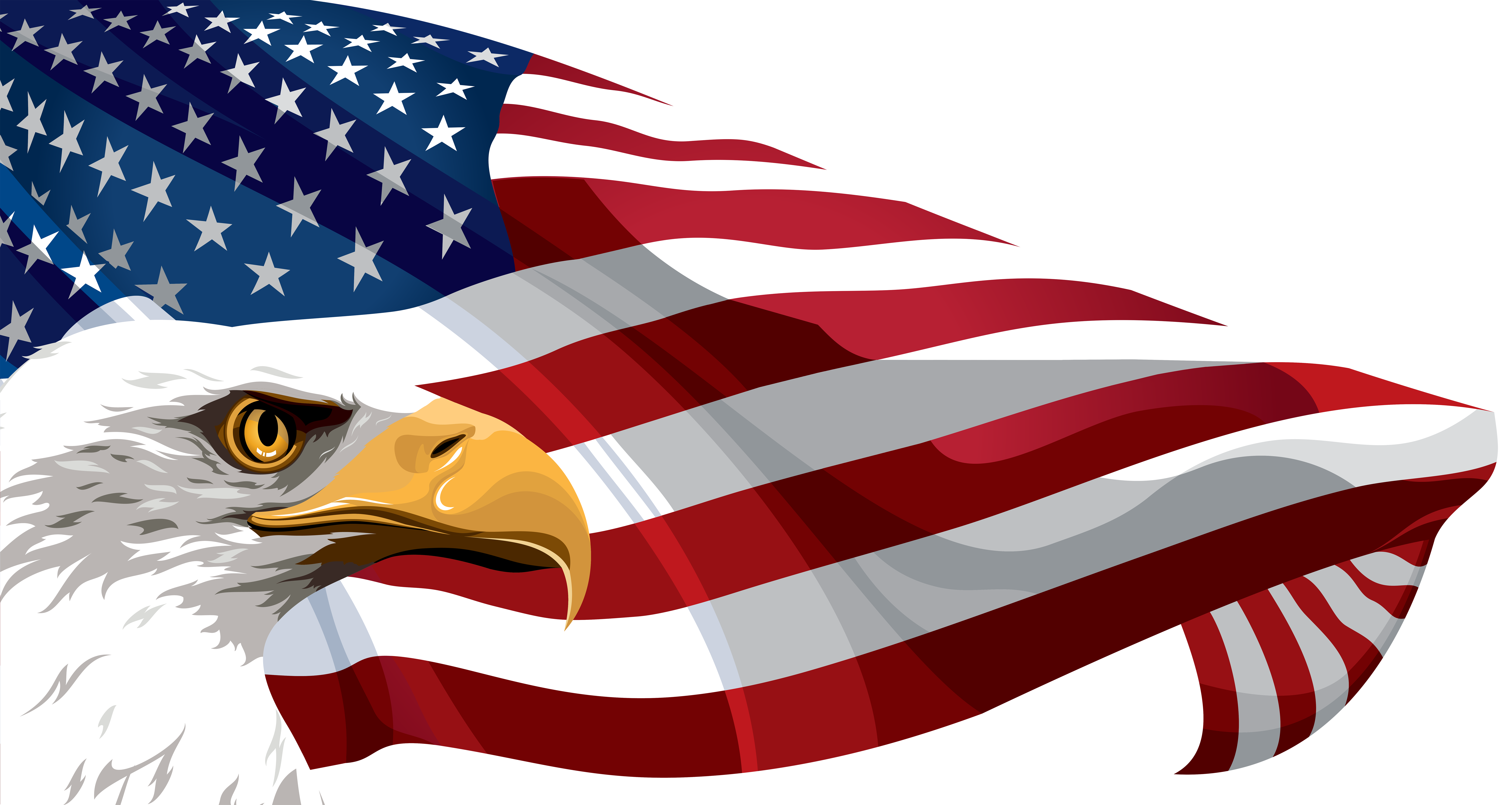 American Flag And Eagle Transparent Png Clip Art Image Gallery Yopriceville High Quality Images American Flag Clip Art American Flag Wallpaper Art Images