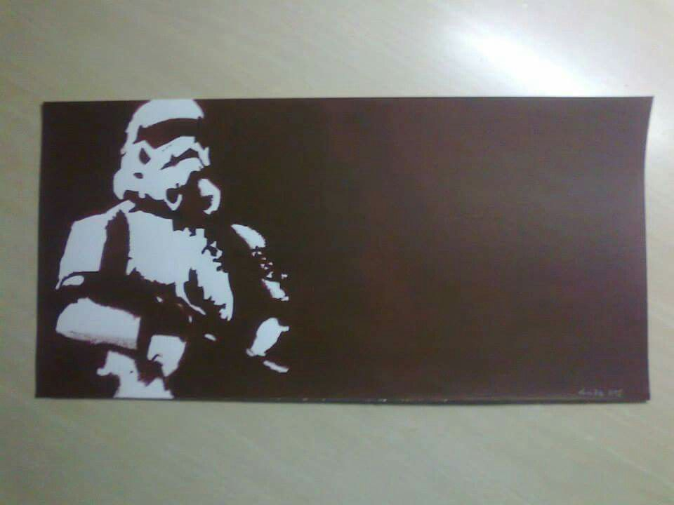 #starwars #stormtrooper #stencil
