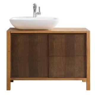 Shop For Vinnova Monza 40Inch American Red Oak Single Vanity With Amazing 40 Inch Bathroom Vanity Design Inspiration