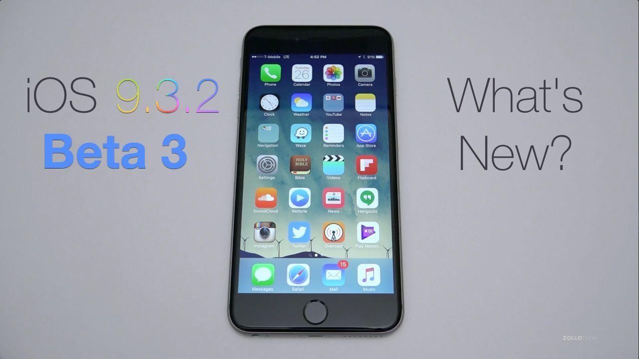 iOS 9.3.2 Beta 3 What's New? Beta, Samsung galaxy