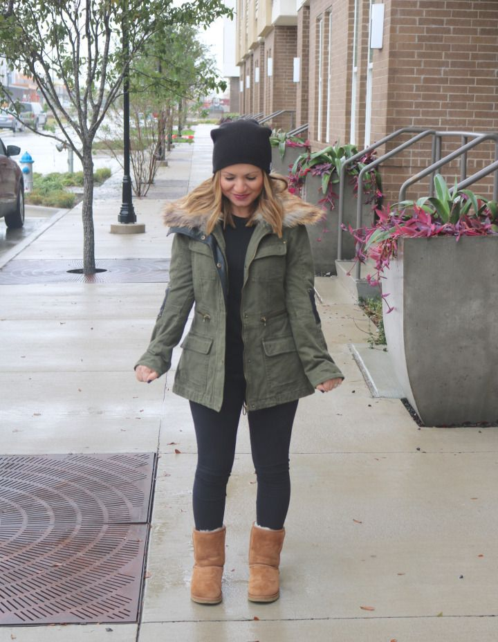 60902e6647d Winter style. Comfortable and warm. Army jacket and Ugg boots. Www ...