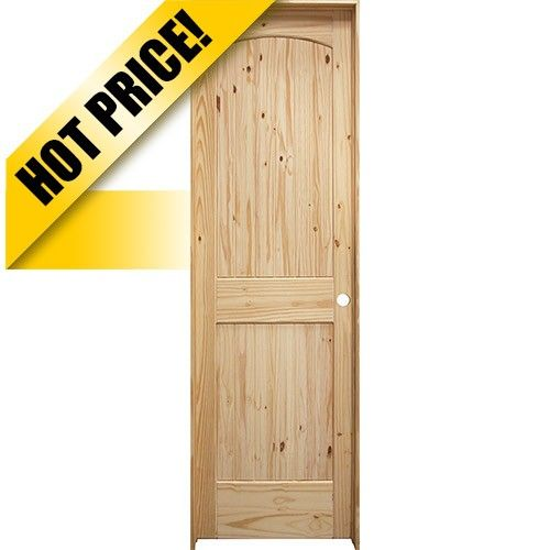 24 68 Tall 2 Panel Arch V Groove Knotty Pine Interior Prehung