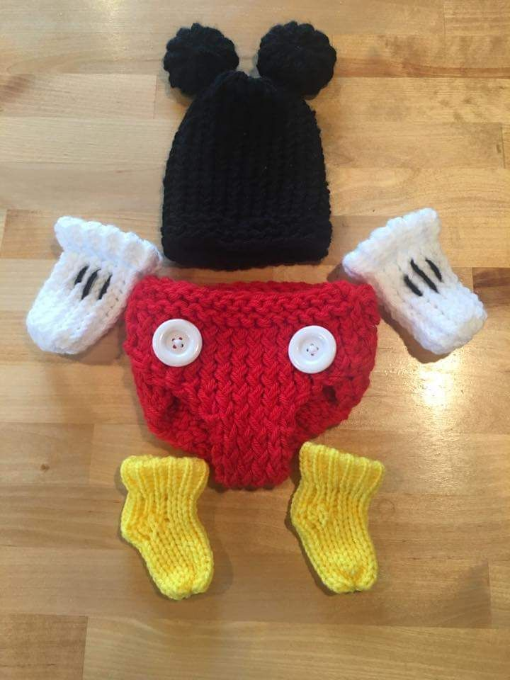 90439289e83 Mickey Mouse inspired newborn hat