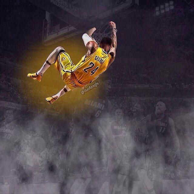 Paul George dunks