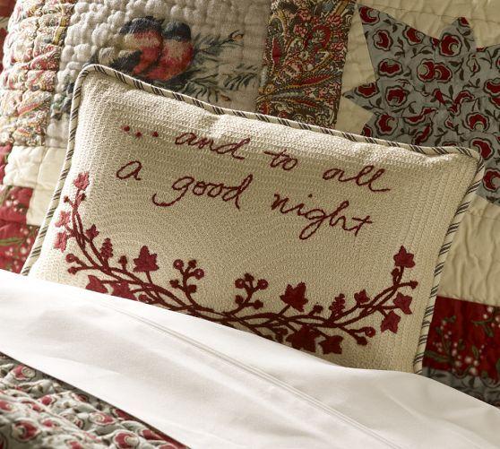 To All A Good Night Pillow Inexpensive Throw Pillows