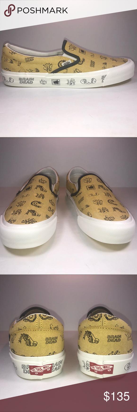 8cbb031c40f393 I just added this listing on Poshmark  Vans Brain Dead Classic Slip On  Aspen Gold Sneaker.  shopmycloset  poshmark  fashion  shopping  style   forsale  Vans ...