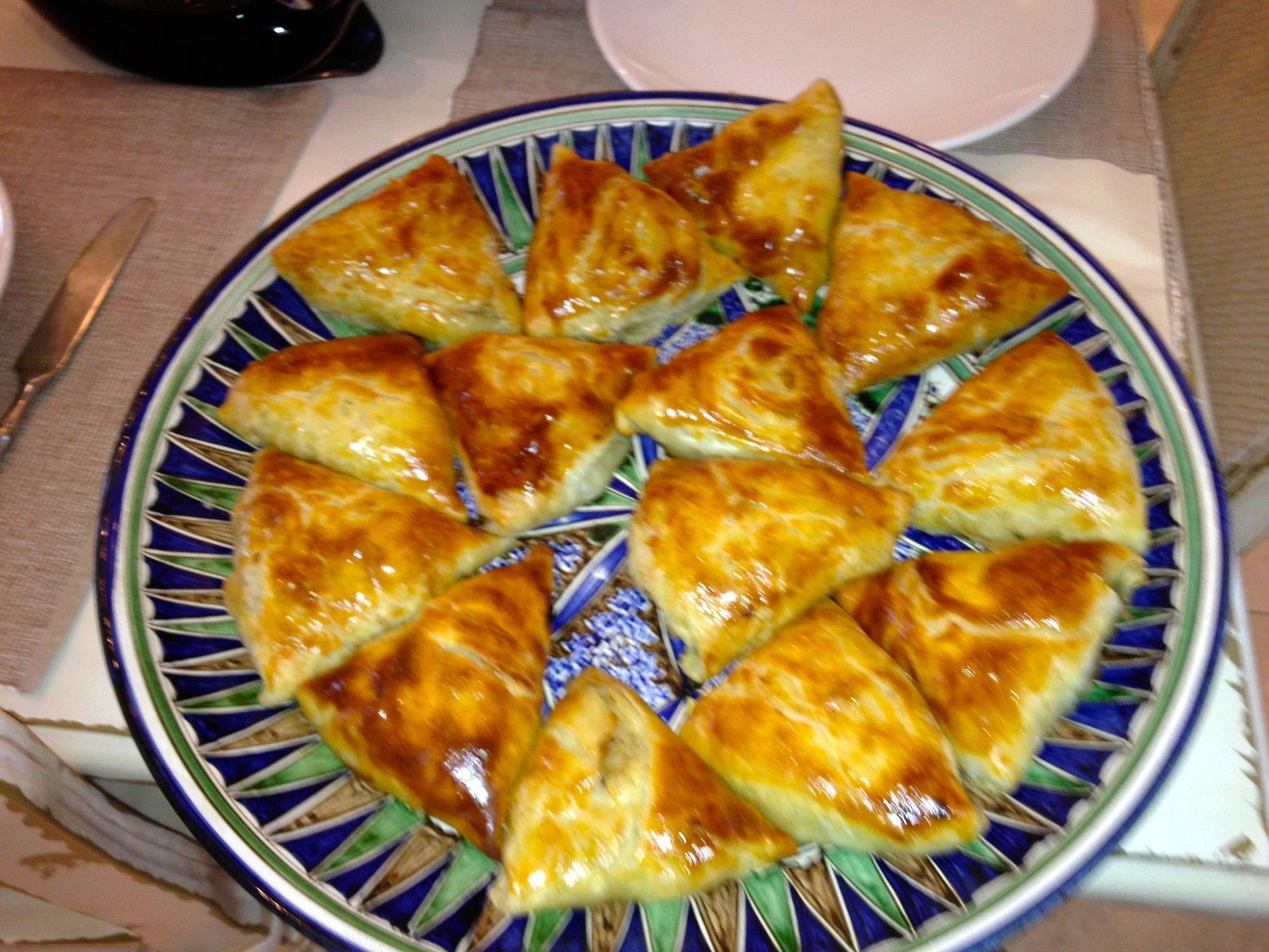 Uzbek Samsas at my house, lamb onions spice