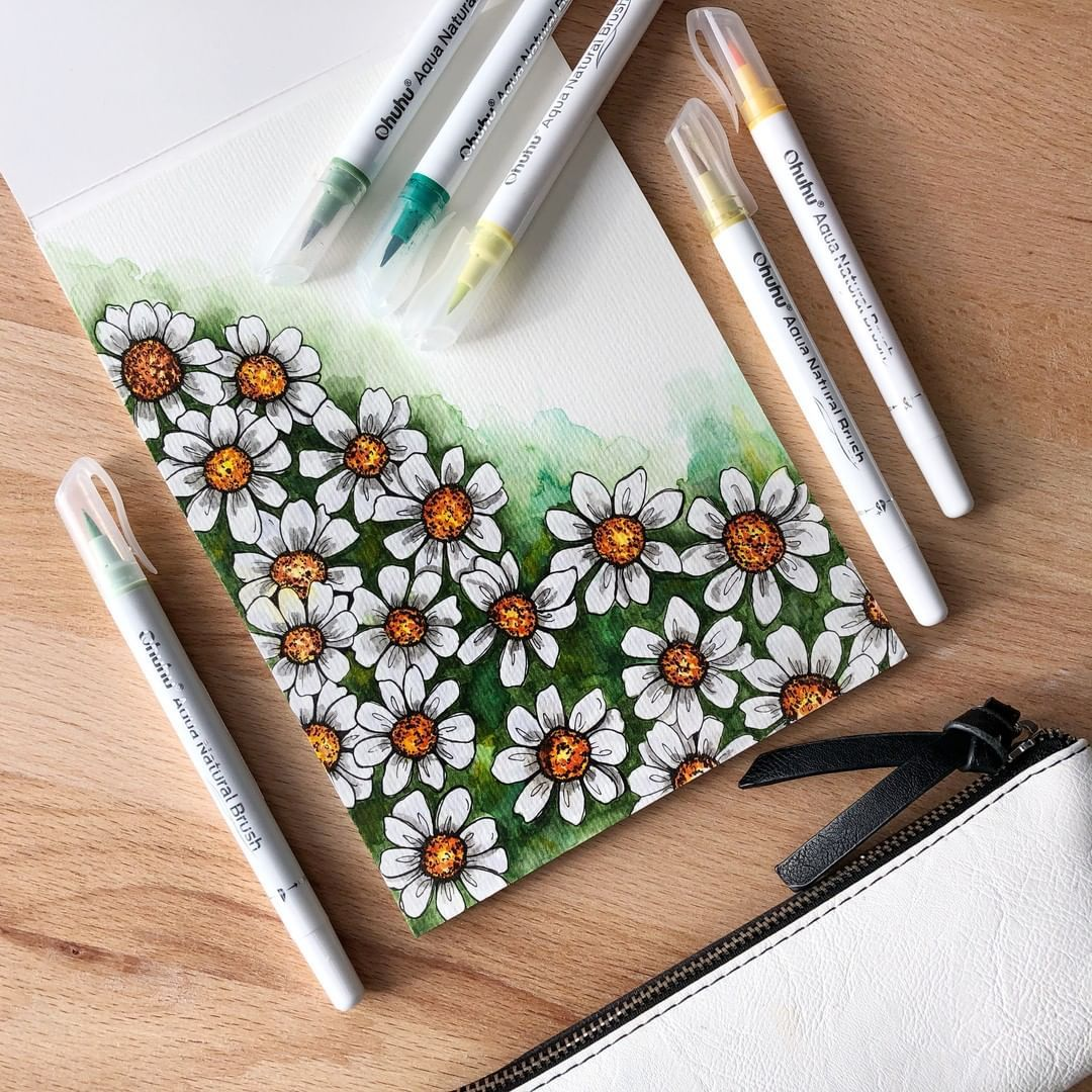 Starting Now 20 Off Ohuhu S Must Have Watercolor Brush Pens On