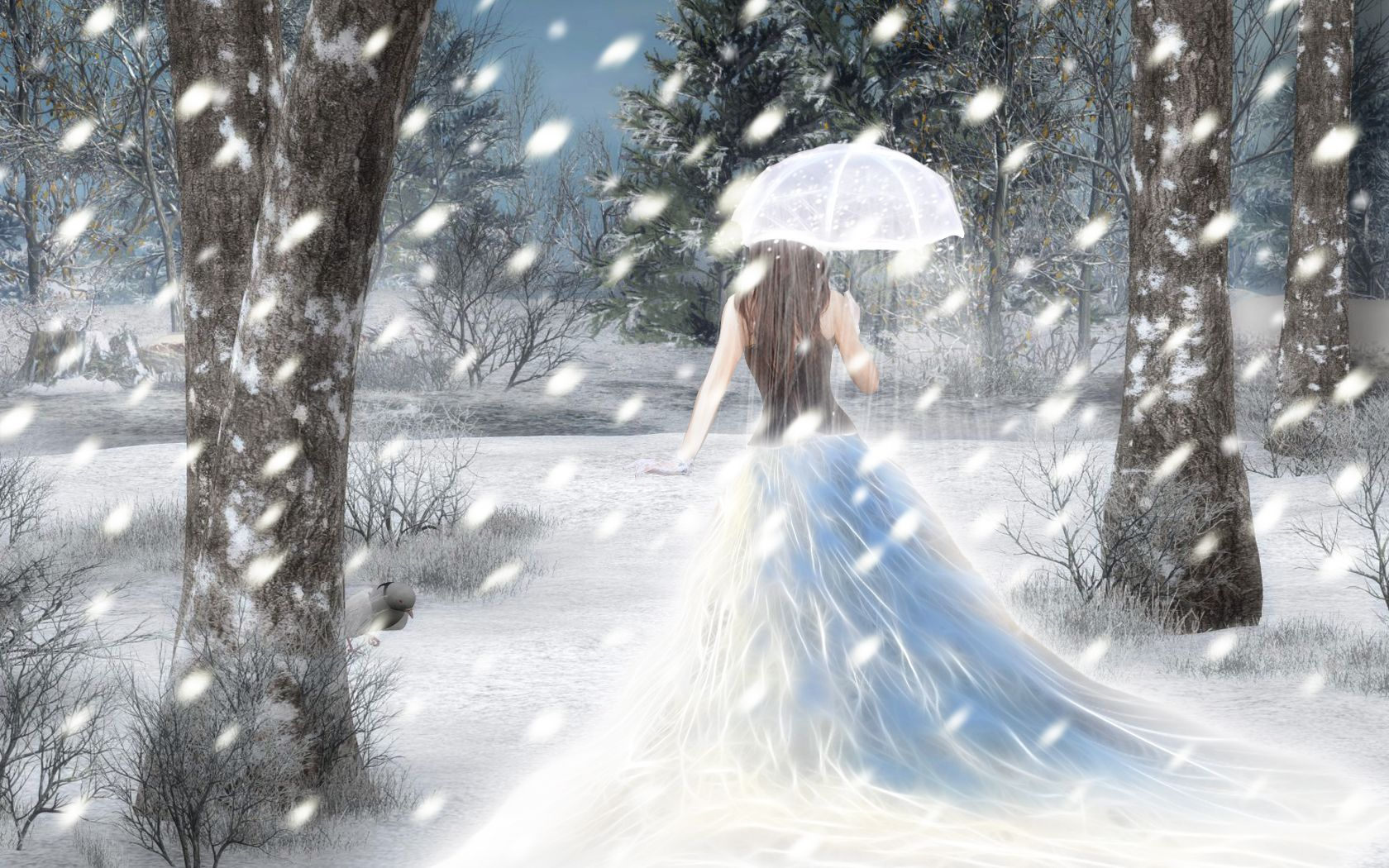 45 Beautiful Winter Illustrations And Wallpapers Noupe Dps For Girls Girl Wallpaper Stylish Dp