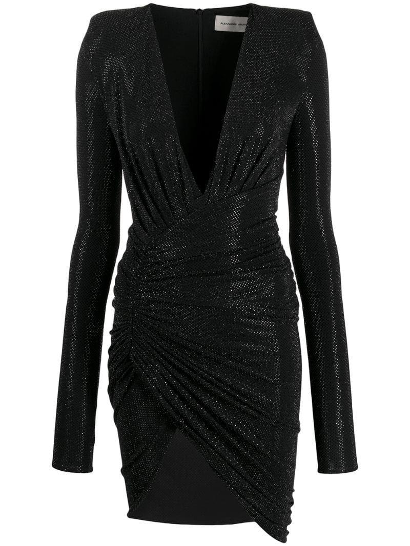 Alexandre Vauthier Long Sleeve Fitted Dress Farfetch Long Sleeve Fitted Dress Long Sleeve Cocktail Dress Trendy Cocktail Dresses [ 1067 x 800 Pixel ]