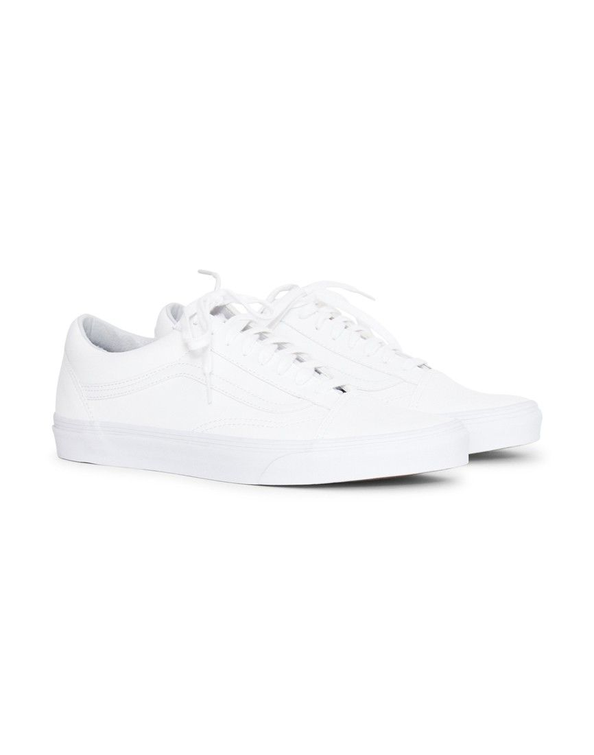 ae5308c61e Order the Vans UA Old Skool Leather Plimsoll White today from The Idle Man