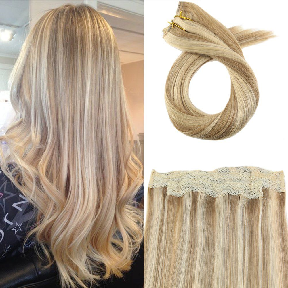 Moresoo Colorful Flip On Hair Extensions Human Hair 80 Grams 16 Inch