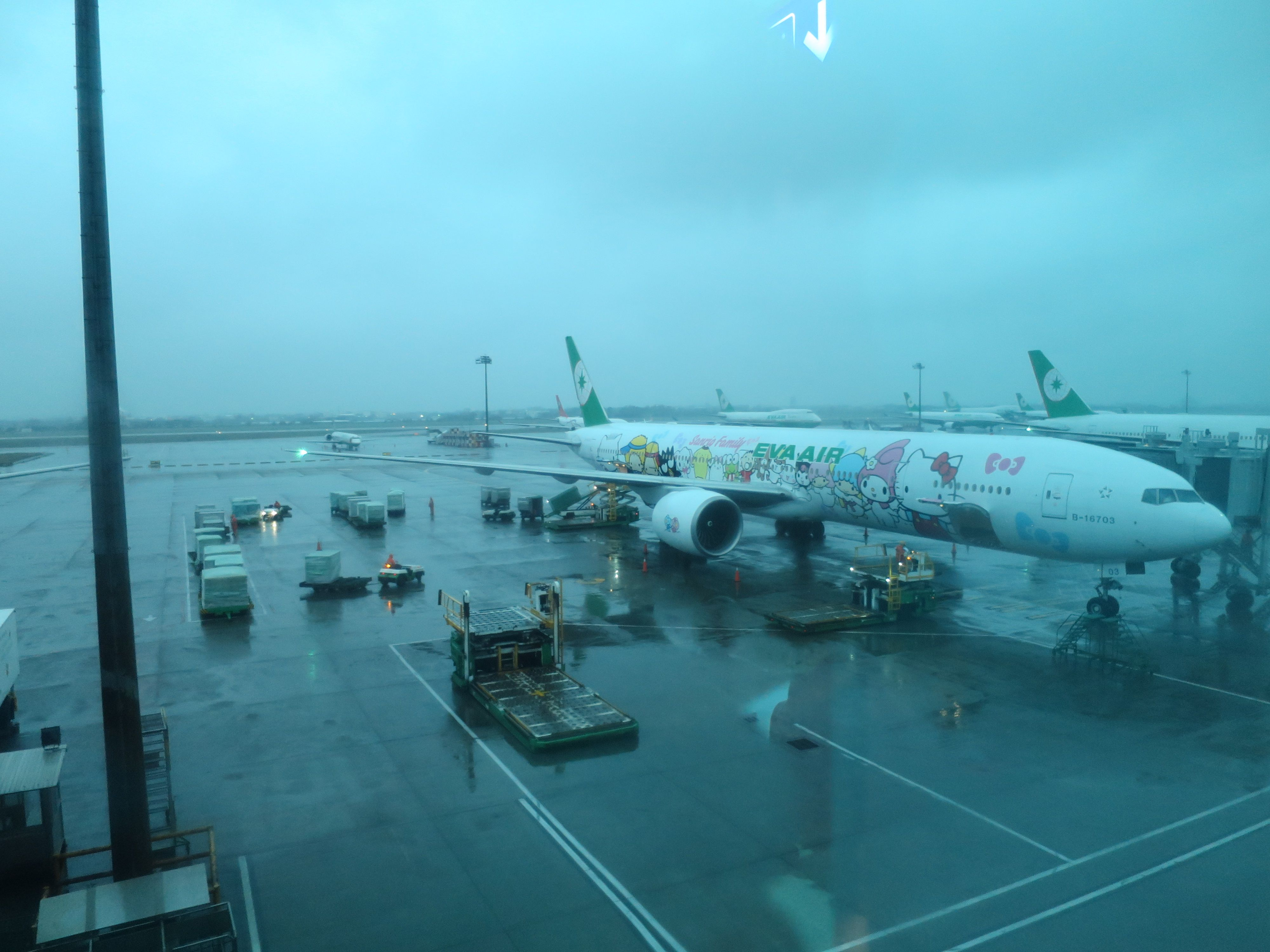 Flying the Hello Kitty livery 777 on EVA Air! Best