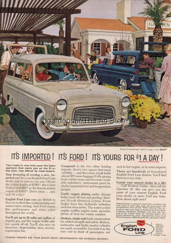 Pin On Vintage Ford Advertising