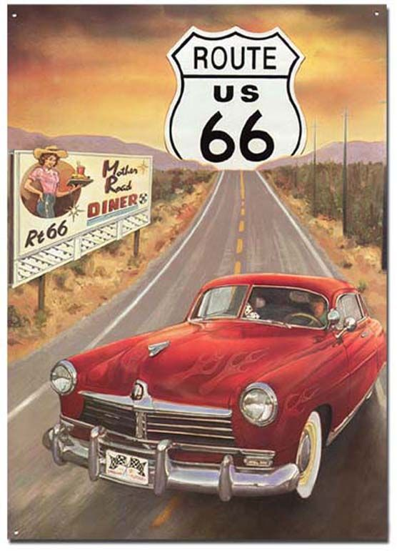 Diner on Route 66 Canvas wall Art prints high quality great value
