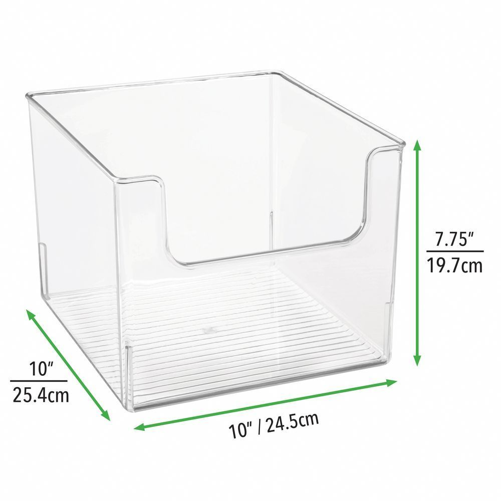 Plastic Bin For Furniture Cubby Storage 10 X 10 X 7 75 Set Of 4 By Mdesign In 2020 Storage Bins Cube Storage Cubby Storage