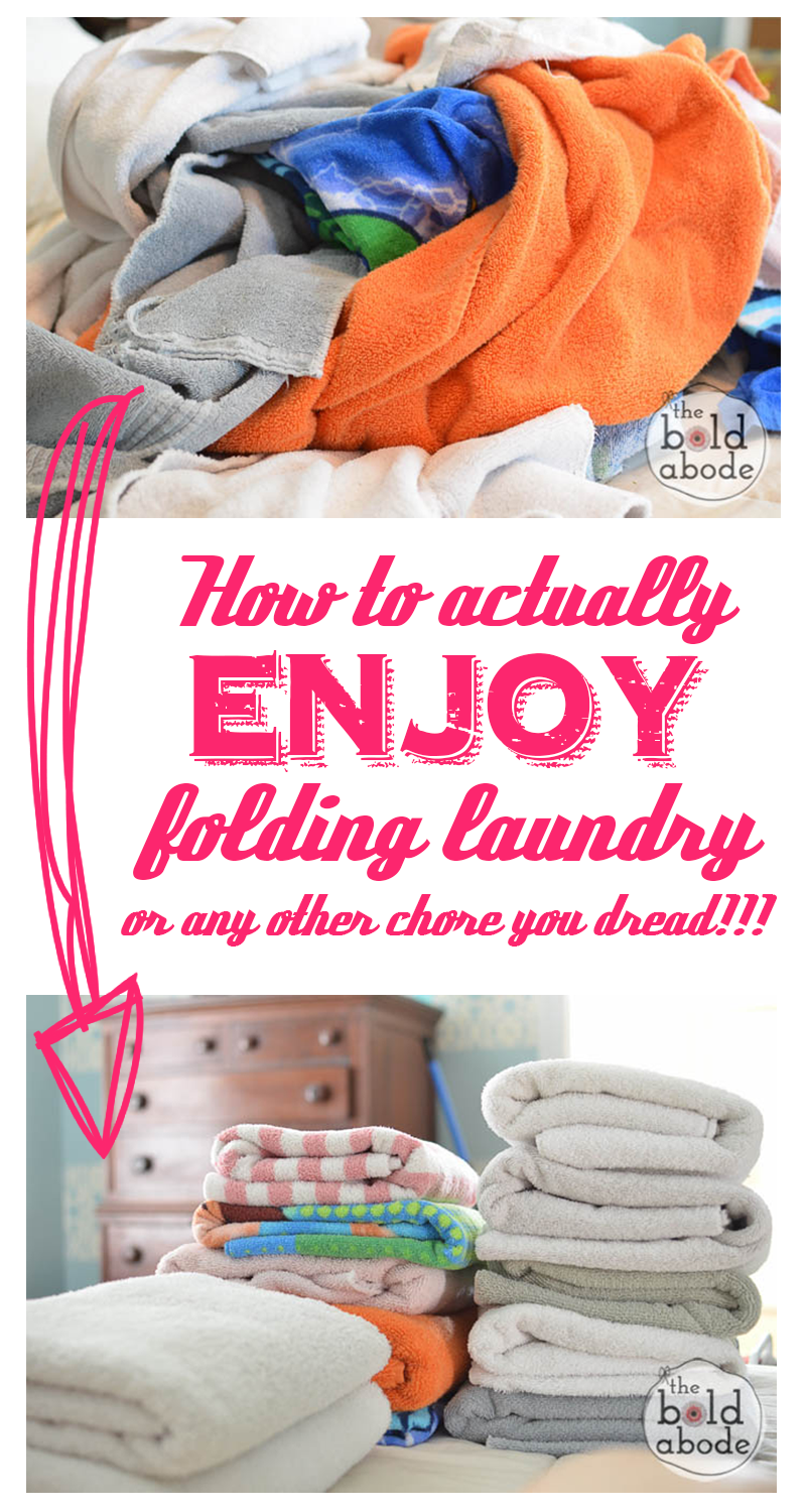 How to Actually Enjoy Folding Laundry or any other chore you dread Use this simple little tip to stop procrastinating and enjoy folding laundry or any other chore you dre...
