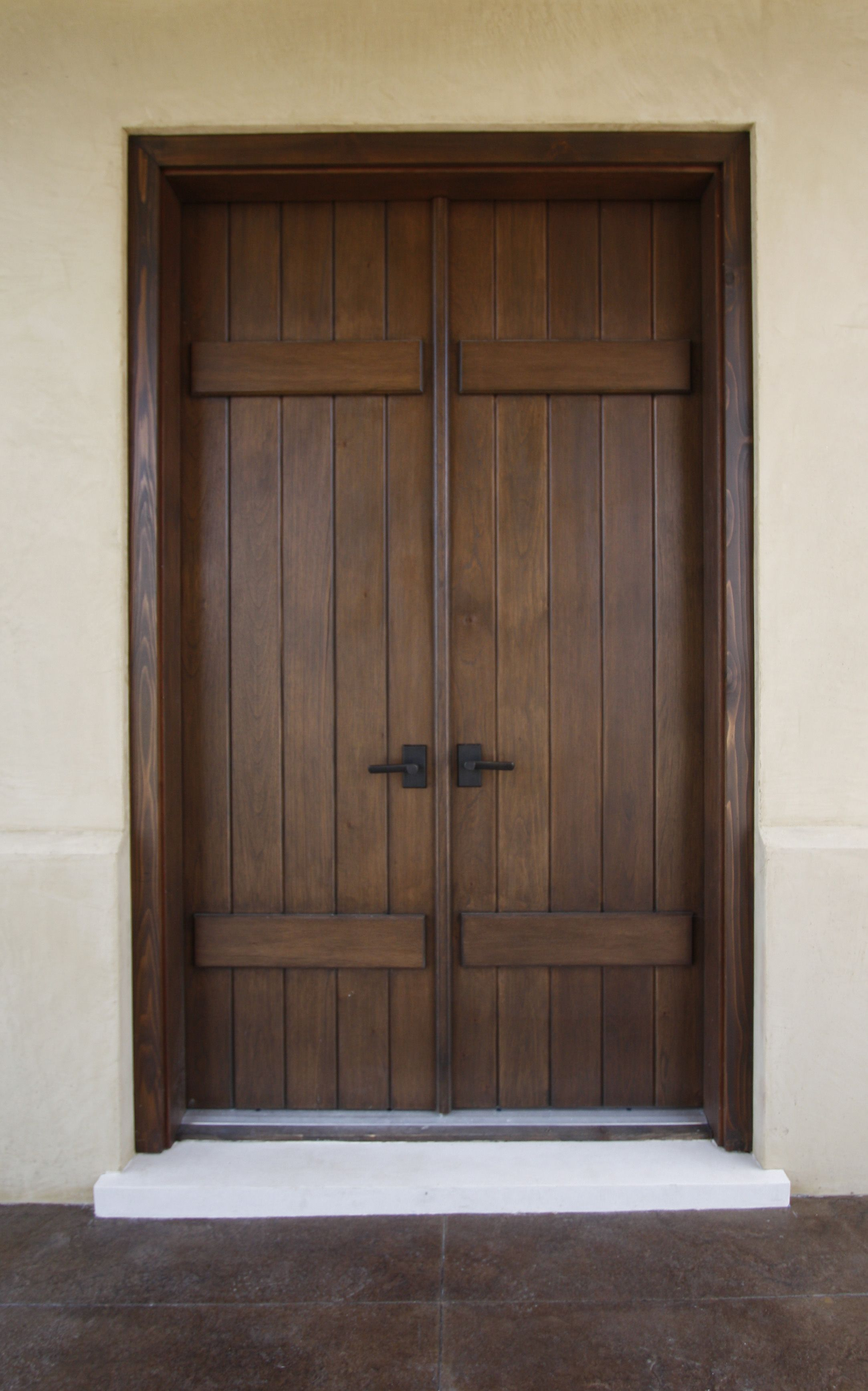 Spanish Cedar Exterior Door In A Board And Batten Style Doors In