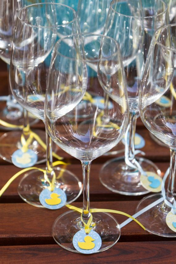 Decorate Wine Glasses For Baby Shower  from i.pinimg.com