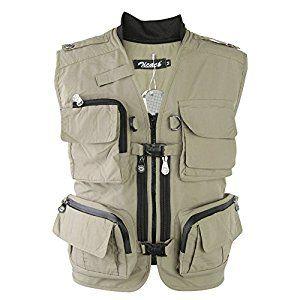 Camouflage Military Vest khaki Cotton Vintage Camo Fishing Vest S