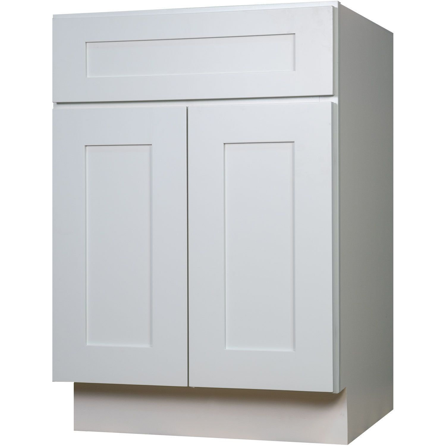 Everyday Cabinets SWHV2721 White Wood 27-inch Single Sink Bathroom ...