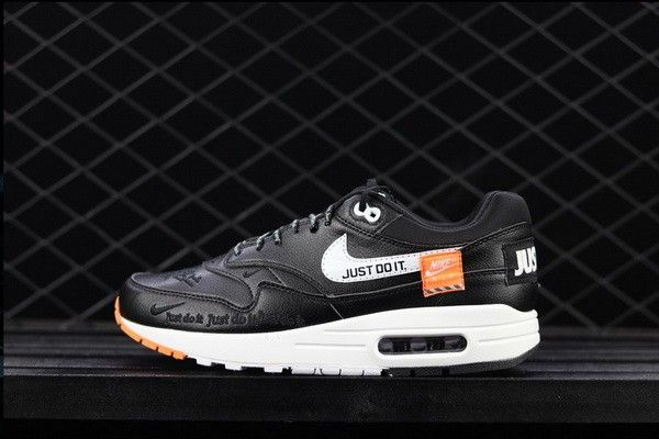 detailed look 12557 2874c Best Price Nike Air Max 1 Just Do It Black
