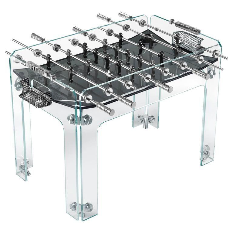 Cristallino Crystal Foosball Table With Black Field By Teckell Foosball Table Foosball Diy Wine Rack