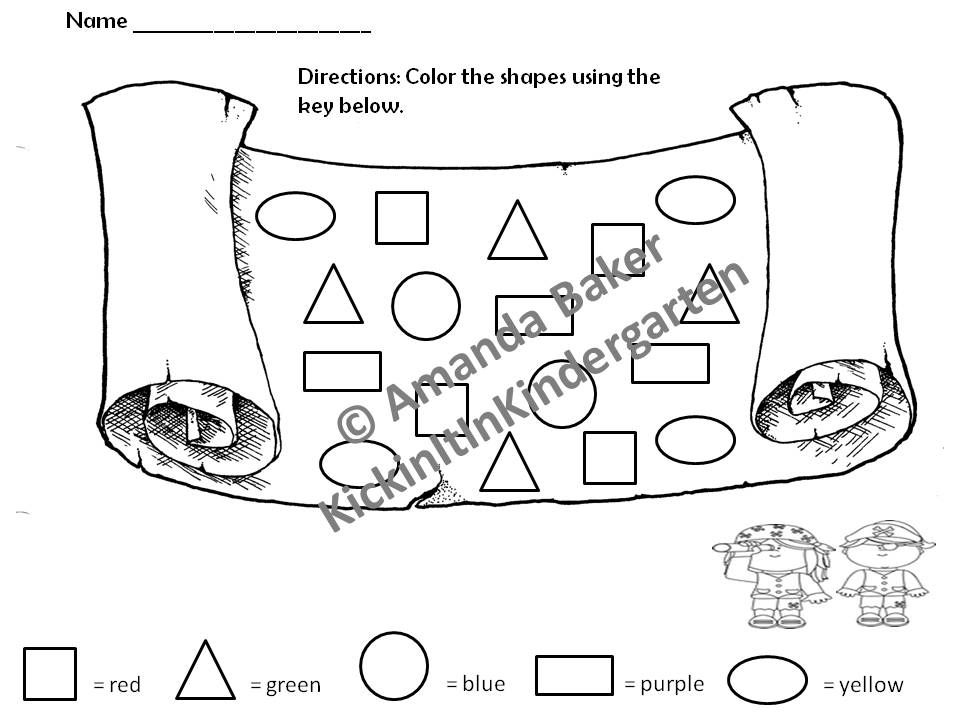 Printable Worksheets pre k color worksheets : 2D Shapes Worksheets for Pre-K - 3 | Shapes worksheets, Worksheets ...