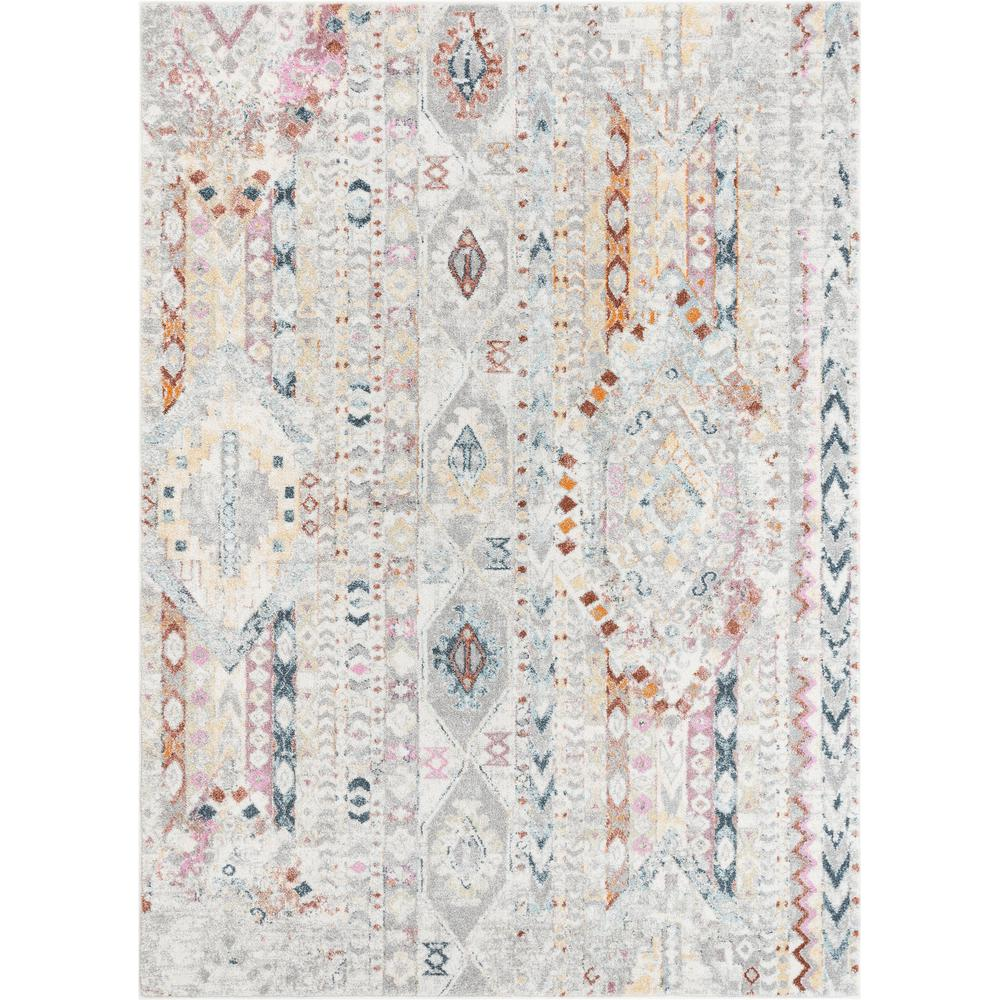 Well Woven Rodeo Otero Ivory Bohemian Aztec 5 Ft 3 In X 7 Ft 3 In Area Rug Ro 02 5 The Home Depot Well Woven Tribal Area Rug Area Rugs