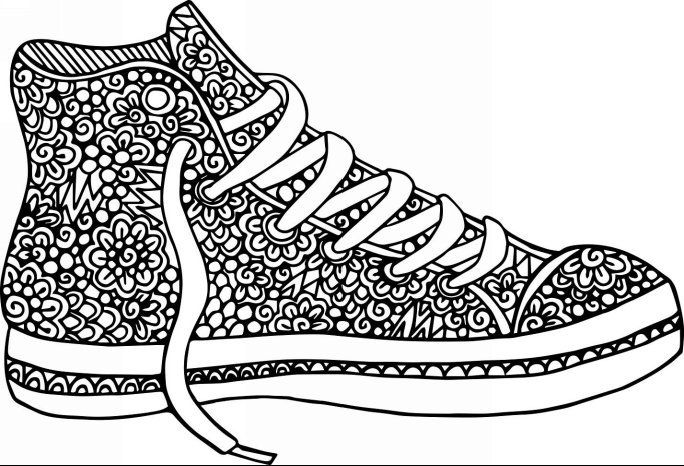 Amazon Com Shoes For Walking 30 Beautiful Shoe Designs For You To Walked Them Coloring Pages For Teenagers Coloring Pages Sneakers Illustration