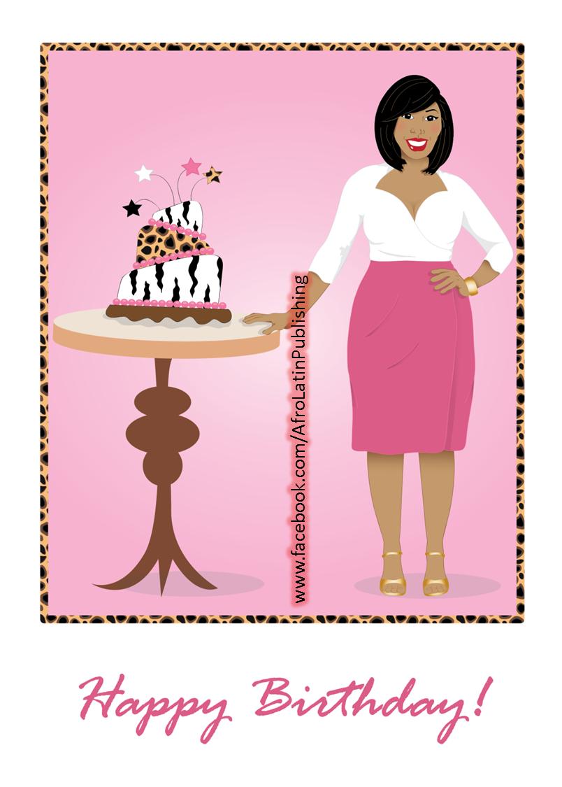 Happy birthday beautiful african american black woman wearing happy birthday beautiful african american black woman wearing pink skirt and white top kristyandbryce Images