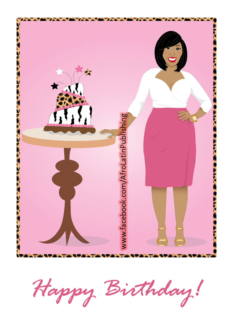 Birthday-Woman In Pink Skirt And Leopard Print And Pink