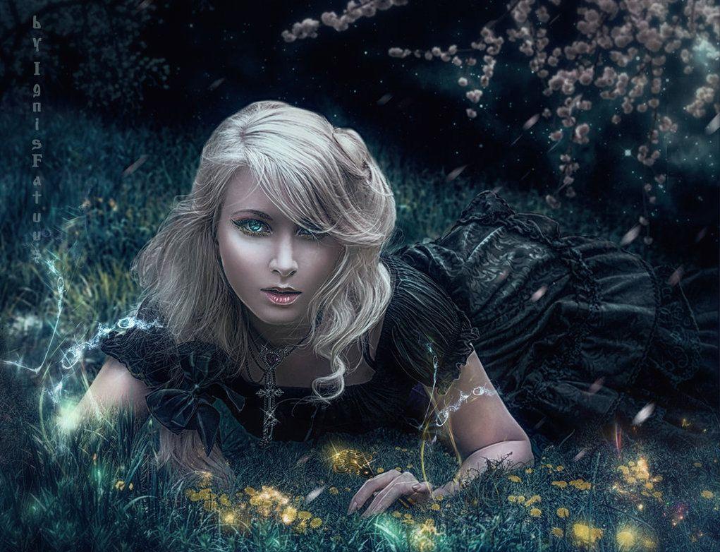 Night in the garden by IgnisFatuusII