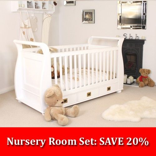 Nutkins Nursery Set Cot Single Wardrobe Chest Of Drawers Baby Changer