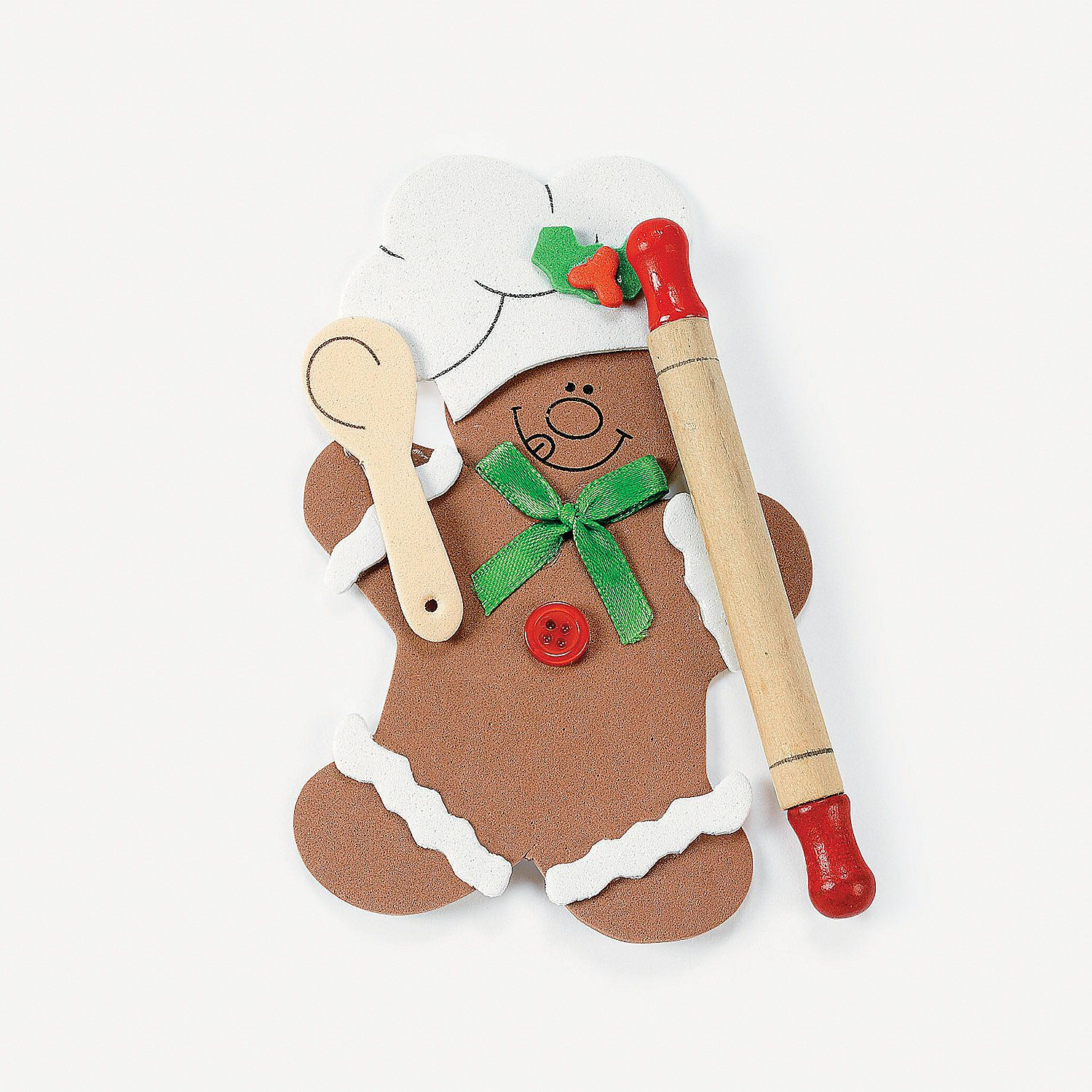 Gingerbread man ornament craft - Gingerbread Man Rolling Pin Ornament Craft Kit Orientaltrading Com
